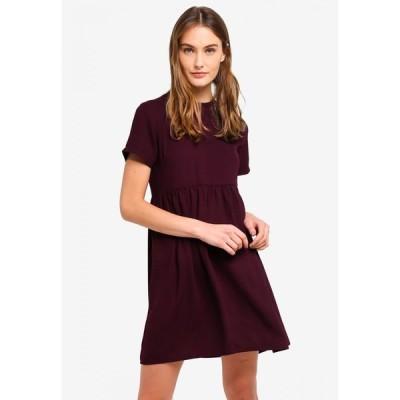 ザローラ ZALORA BASICS レディース パーティードレス ベビードール ワンピース・ドレス Basic Babydoll Dress Plum