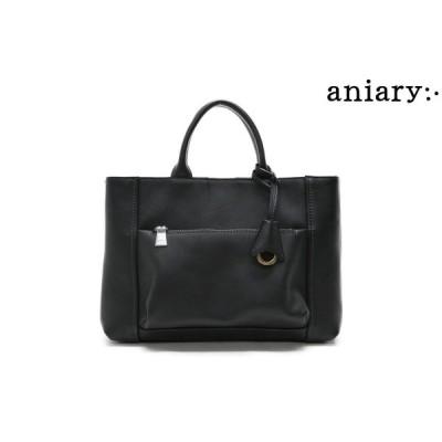 アニアリ / aniary バッグ 07-02010chgy シュリンクレザートートバッグ チャコールグレー