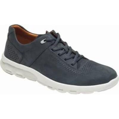 Rockport メンズスニーカー Rockport Lets Walk Plain Toe Sneaker Blue Nubuck