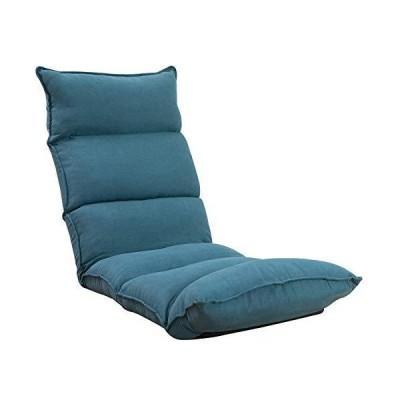 座椅子 フロアチェア 肉厚クッション 低反発ウレタン フロアソファー14段階調整可能(Blue)06BAA