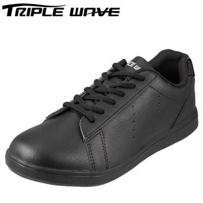 トリプルウェーブ TRIPLE WAVE TW2305 メンズ | ローカットスニーカー 黒 | 大きいサイズ対応 28.0cm | ブラック