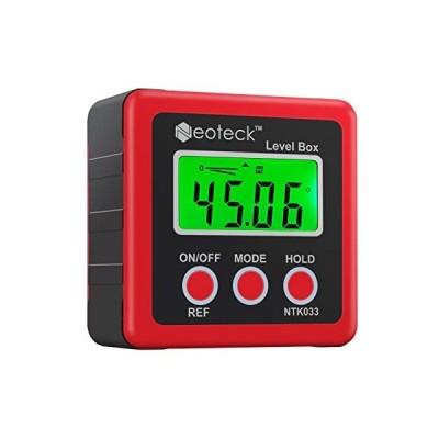 Neoteck デジタルアングルメーター ベベルボックス 4単位 LCD バックライト