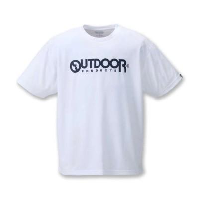 大きいサイズ メンズ OUTDOOR PRODUCTS DRYメッシュ半袖Tシャツ ホワイト