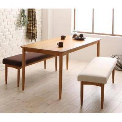 ダイニングテーブルセット 4人用 椅子 ベンチ おしゃれ 安い 北欧 食卓 3点 ( 机+長椅子2脚 ) 幅150 デザイナーズ クール スタイリッシュ