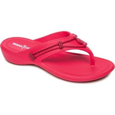 ミネトンカ MINNETONKA レディース ビーチサンダル シューズ・靴 Silverthorne Prism Flip Flop Raspberry