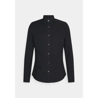カルバンクライン シャツ メンズ トップス OXFORD SOLID SLIM - Shirt - black