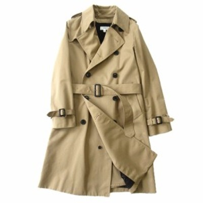 【中古】美品 14AW ハイク HYKE ライナー付 トレンチ コート ジャケット ブルゾン 141-17005 サイズ1 ベージュ