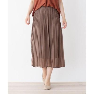 SHOO・LA・RUE / シューラルー 【M-L】グラデーションプリーツジョーゼットスカート
