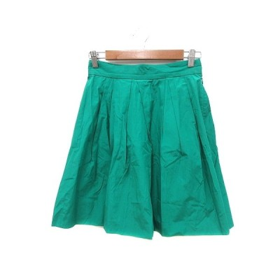【中古】マカフィー MACPHEE トゥモローランド フレアスカート ひざ丈 36 緑 グリーン /MN レディース 【ベクトル 古着】