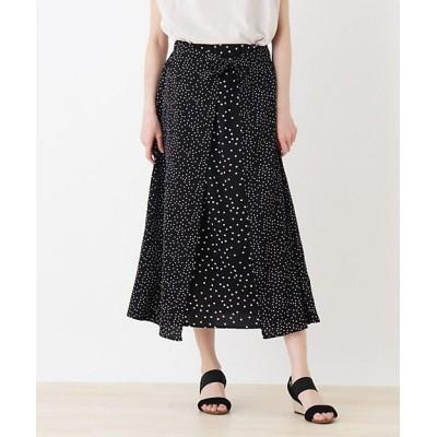 <SHOO LA RUE(Women)/シューラルー> ラップ風Aラインドットスカート クロ619【三越伊勢丹/公式】