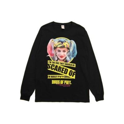 ムービーTシャツ HARLEY QUINN / SCARED OF MENS オフィシャル 映画Tシャツ 長袖 スーサイド・スクワッド  バットマン ジョーカー DCコミックス