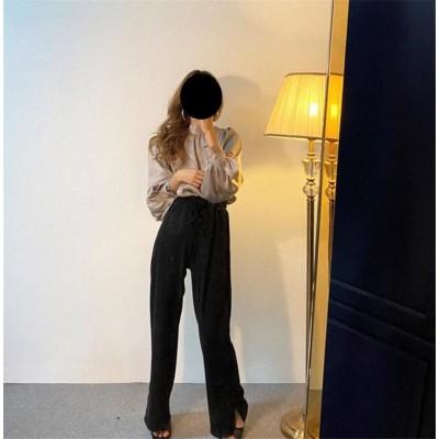 \いまだけの超SALE価格🔥/韓国ファッション トップス 上品映え 新品 個性 百掛け サテン ブラウス