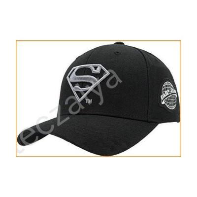 Superman Logo Symbol Hat Adjustable Baseball Cap for Men Women Adult Offcially Licensed by DC Comics (Black/Silver)並行輸入品