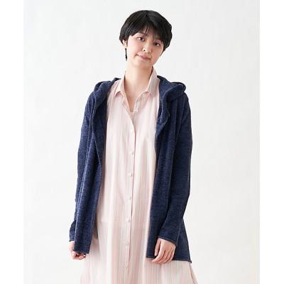 <CARA O CRUZ(Women)/キャラ・オ・クルス> パーカ ネービーブルー【三越伊勢丹/公式】