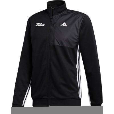 アディダス カットソー トップス メンズ adidas Men's University of Tulsa Transitional Tracktop Black