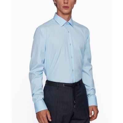 ヒューゴボス シャツ トップス メンズ BOSS Men's Goras Regular-Fit Shirt Light/Pastel Blue