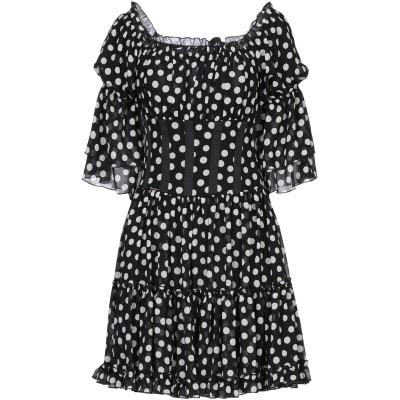 W LES FEMMES by BABYLON ミニワンピース&ドレス ブラック 44 ポリエステル 100% ミニワンピース&ドレス