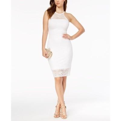 ゲス ワンピース トップス レディース Lace Illusion Halter Dress White