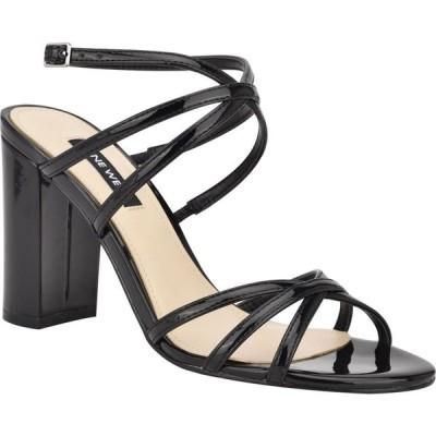 ナインウエスト NINE WEST レディース サンダル・ミュール シューズ・靴 Obvi Strappy Sandal Black Patent