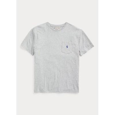 ポロ ラルフローレン メンズ Polo Ralph Laure Classic Slub Pocket T-Shirt Tシャツ 半袖 Dark Vintage Heather