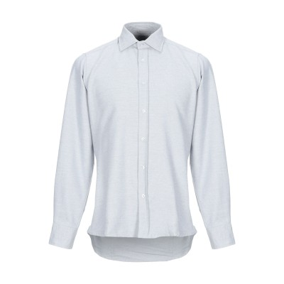 R3D WÖÔD シャツ ライトグレー M コットン 100% シャツ