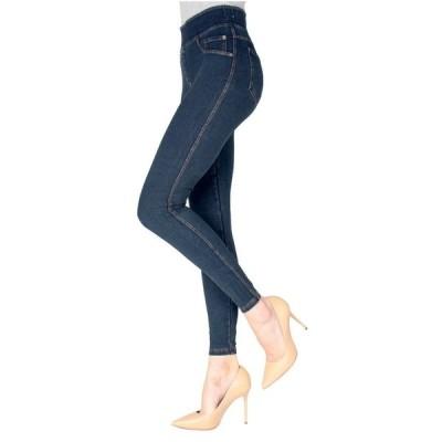 メモイ デニムパンツ ボトムス レディース Denim Shaping Jean Women's Leggings Blue