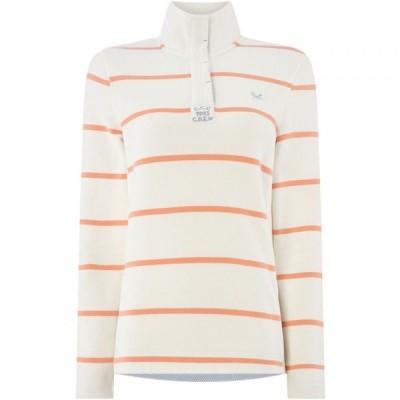 クルークロッシングカンパニー Crew Clothing Company レディース ニット・セーター トップス Half Button Sweat Multi-Coloured