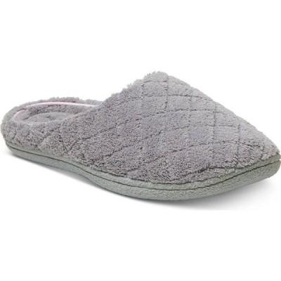 ディアフォームス Dearfoams レディース スリッパ シューズ・靴 Leslie Quilted Microfiber Terry Clog Slipper Medium Gray
