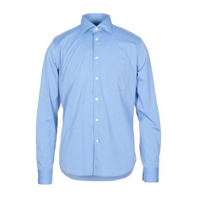 BORSA シャツ アジュールブルー 40 コットン 72% / ナイロン 25% / ポリウレタン 3% シャツ