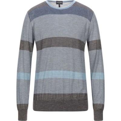 アルマーニ GIORGIO ARMANI メンズ ニット・セーター トップス sweater Slate blue