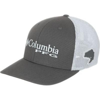 コロンビア メンズ 帽子 アクセサリー PFG Mesh Trucker Hat Grill/Bass