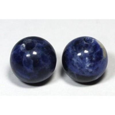 丸ビーズ ソーダライト 10mm (2.5mm穴) 10粒セット売り 天然石 パワーストーン/ビーズ