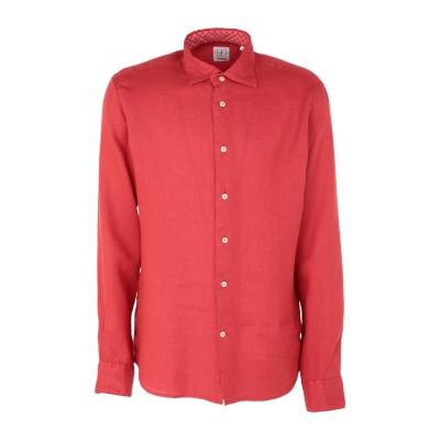 ドルモア DRUMOHR シャツ 赤茶色 S リネン 100% シャツ