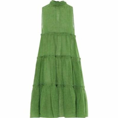 リサ マリー フェルナンデス Lisa Marie Fernandez レディース ワンピース ワンピース・ドレス Erica linen-blend gauze dress Green Org