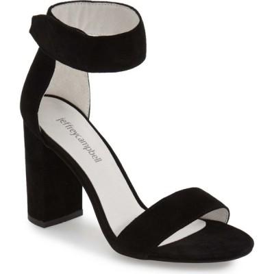 ジェフリー キャンベル JEFFREY CAMPBELL レディース サンダル・ミュール アンクルストラップ シューズ・靴 Lindsay Ankle Strap Sandal Black Suede