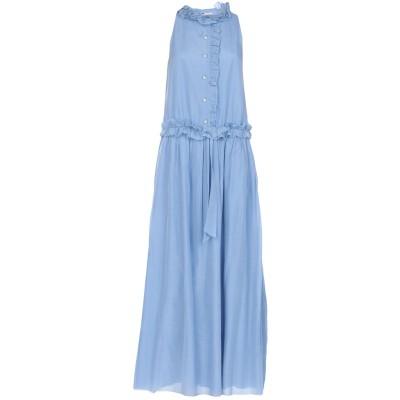 ランバン LANVIN ロングワンピース&ドレス スカイブルー 36 コットン 65% / シルク 35% ロングワンピース&ドレス