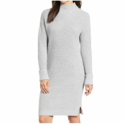 ファッション ドレス Caslon Womens Gray Size Small Petite Mock Neck Sweater Dress