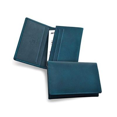 (アスメデル) ASUMEDERU EA14E3078 イタリア製ヌメ革 ブッテーロ ベスポジII 名刺入 カードケース [日本製] (ブルー)
