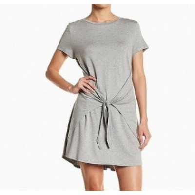 Soprano ソプラノ ファッション ドレス Soprano Womens Dress Gray Size XS Shirt Waist-Tie Crewneck T-Shirt
