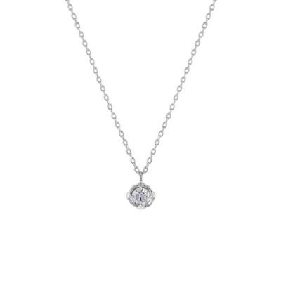 ネックレス レディース ダイヤモンド K18 ホワイトゴールド 18k 18金 ESTELLE エステール プレゼント ご褒美