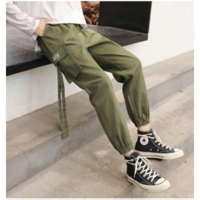 ウエストゴム カーゴパンツ 長ズボン カジュアル ボーイッシュ ボトムス パンツ ロング丈 小柄 小さいサイズ 小さい 服