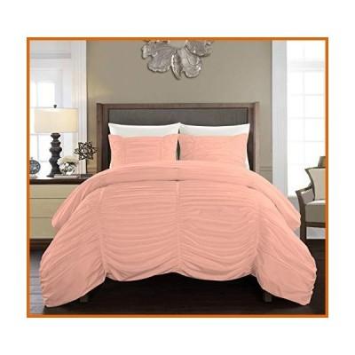 送料無料 GetBedding 5 Piece Ruched Pattern Duvet Cover with Zipper & Corner Ties 100% Egyptian Cotton 800 Thread Count Premium Hotel Qua