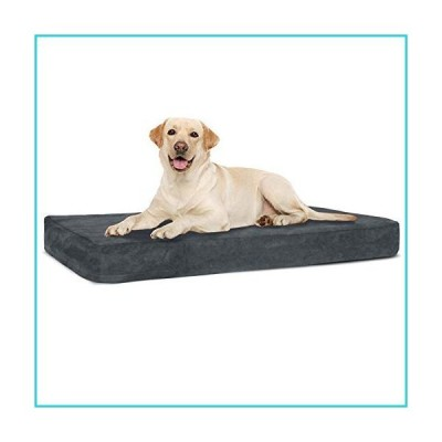 Dog Bed, Orthopedic Dog Cushion, Water-Resistant Dog Mattress with Memory Foam, Machine Washable, Dog Pillow, 41'' x 28'' x 4''【並行輸