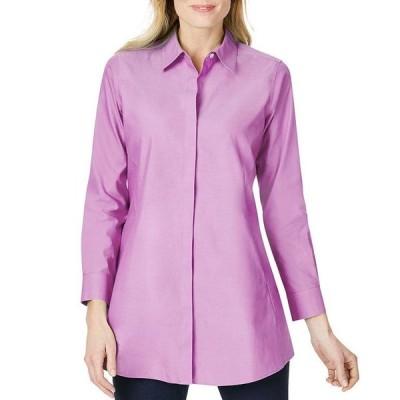 フォックスクラフト レディース シャツ トップス Cici Cotton Non-Iron Tunic Shirt