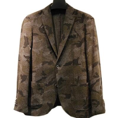 ムッシュ ニコル MONSIEUR NICOLE カモフラージュ柄ウールジャケット メンズ ブランド (アウトレット50%OFF) 半額 通常販売価格:38500円