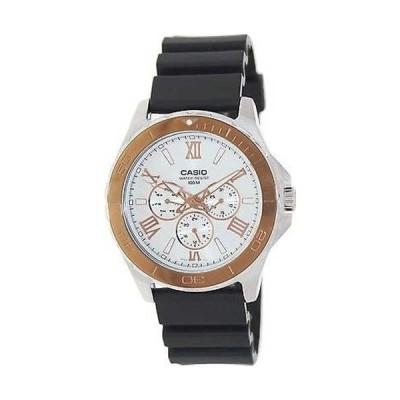 腕時計 カシオ Casio メンズ MTD1075-7AV ブラック プラスチック クォーツ 腕時計