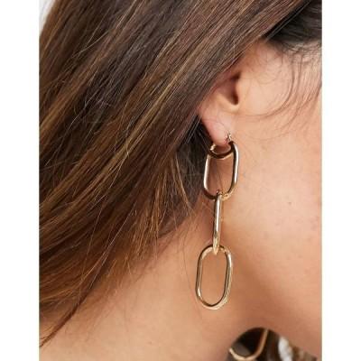 エイソス レディース ピアス&イヤリング アクセサリー ASOS DESIGN earrings in minimal open chain drop in gold tone Gold
