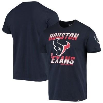 フォーティーセブン Tシャツ トップス メンズ Houston Texans '47 Line Rush Two Point Conversion T Shirt  Navy