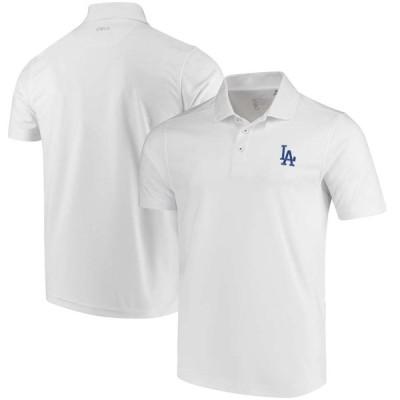 """メンズ ポロシャツ """"Los Angeles Dodgers"""" CBUK by Cutter & Buck DryTec Fairwood Polo - White"""