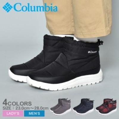 コロンビア スノーブーツ メンズ スピンリール ミニブーツ ウォータープルーフ オムニヒート 防水 靴 グレー ショートブーツ COLUMBIA YU